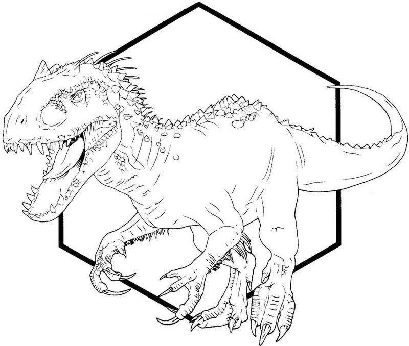 indominus rex dino coloring printable sheet
