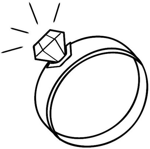 ivory diamond wedding ring coloring page