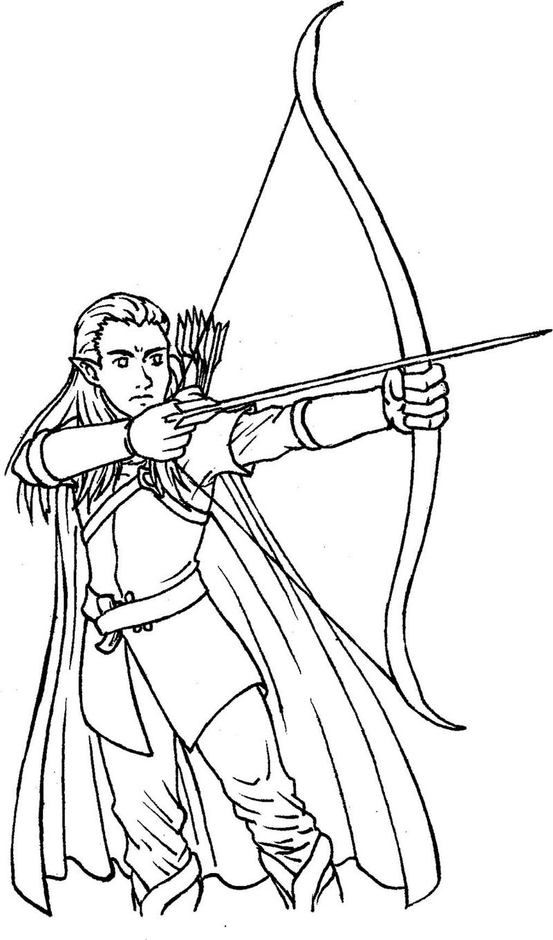 legolas from lord of the rings coloring picture