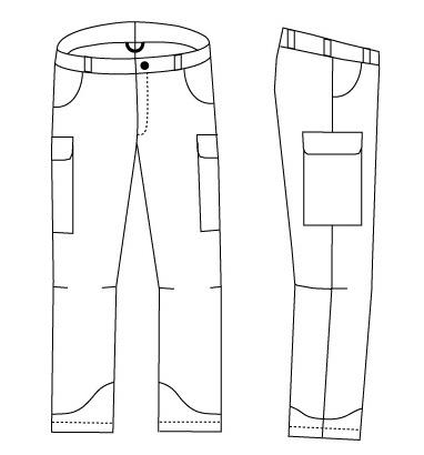 modern pants fashion drawing page