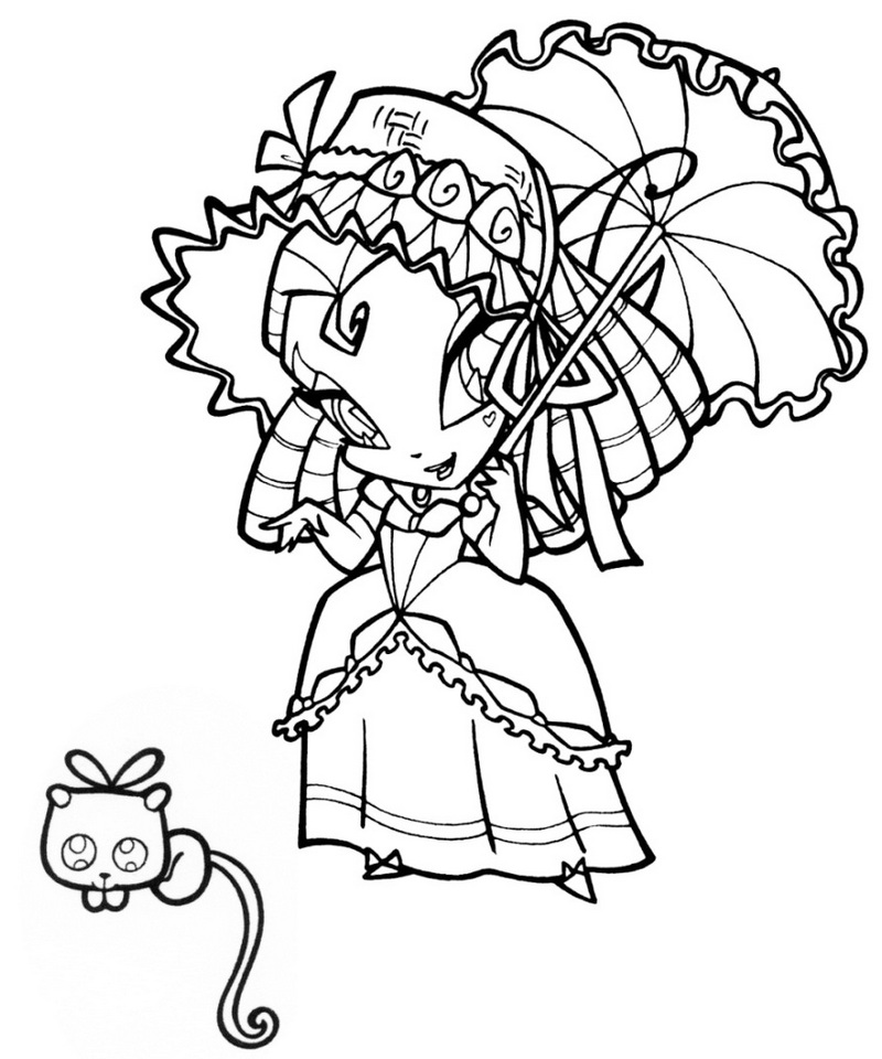 pop pixie magical world coloring page for your little princess