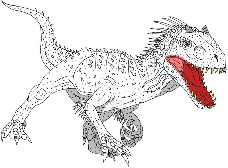 strong indominus rex coloring picture