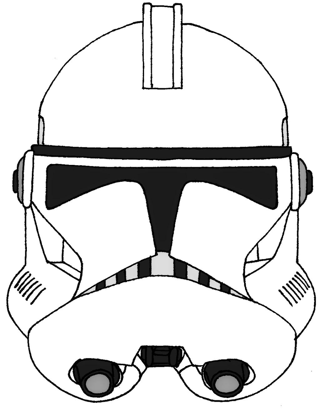 stunningl stormtrooper helmet coloring sheet