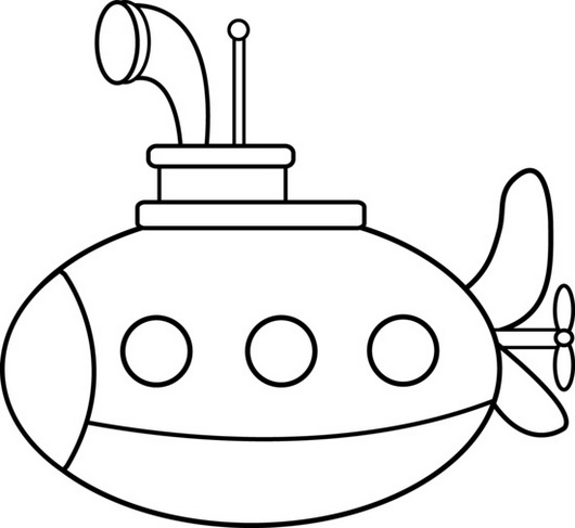 submarine nautical vehicle coloring picture