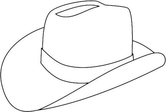 top cowboy hat coloring page
