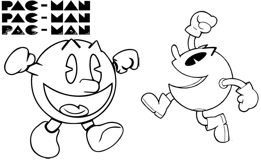 Best Printable Pacman Coloring Page