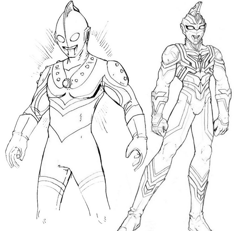 Ultraman coloring book printable pages