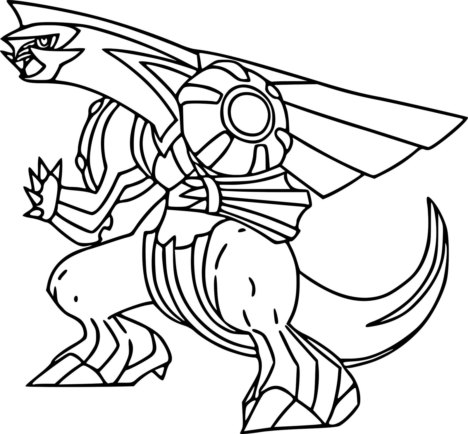 Dragon Palkia Pokemon Coloring Sheet