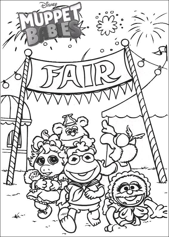 Fantastic Muppet babies Disney coloring pages