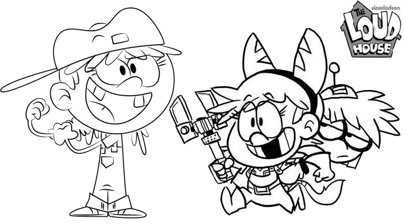 Fun Loud House Coloring Page Online for Child