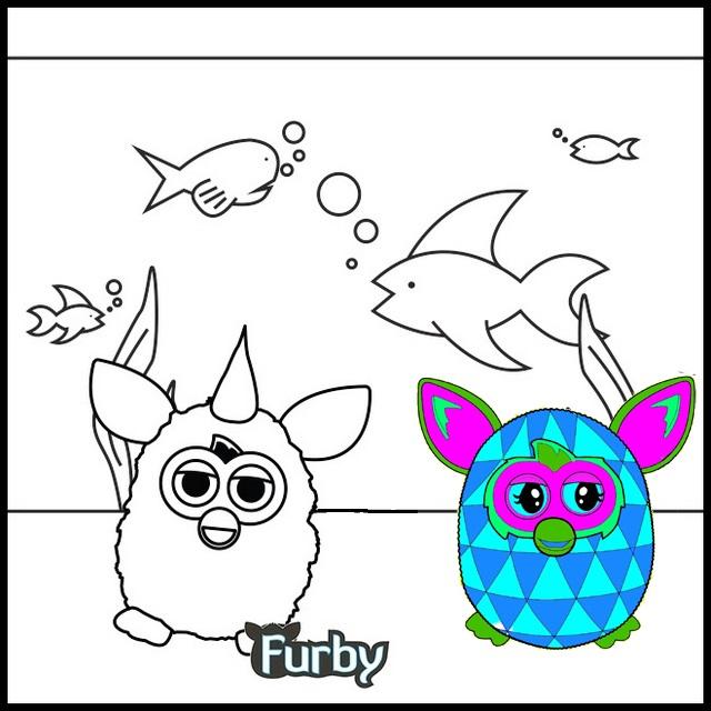Furby Aquarium Coloring Page