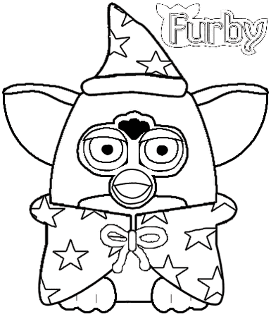 Furby WITCH Coloring page
