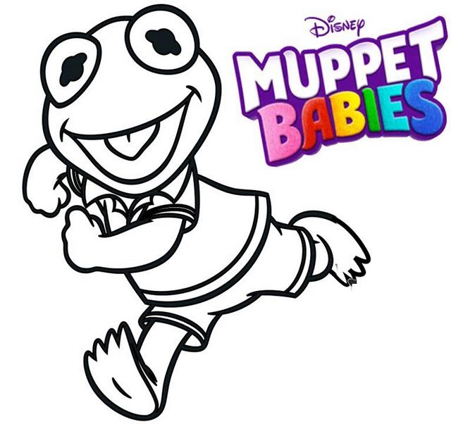 Kermit Muppet Babies Coloring Pages