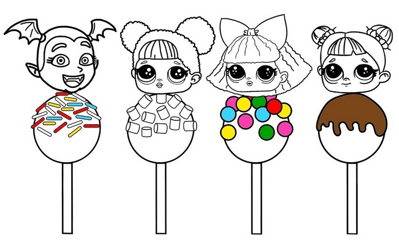 Sweet Lollipop LOL Surprise Coloring Page