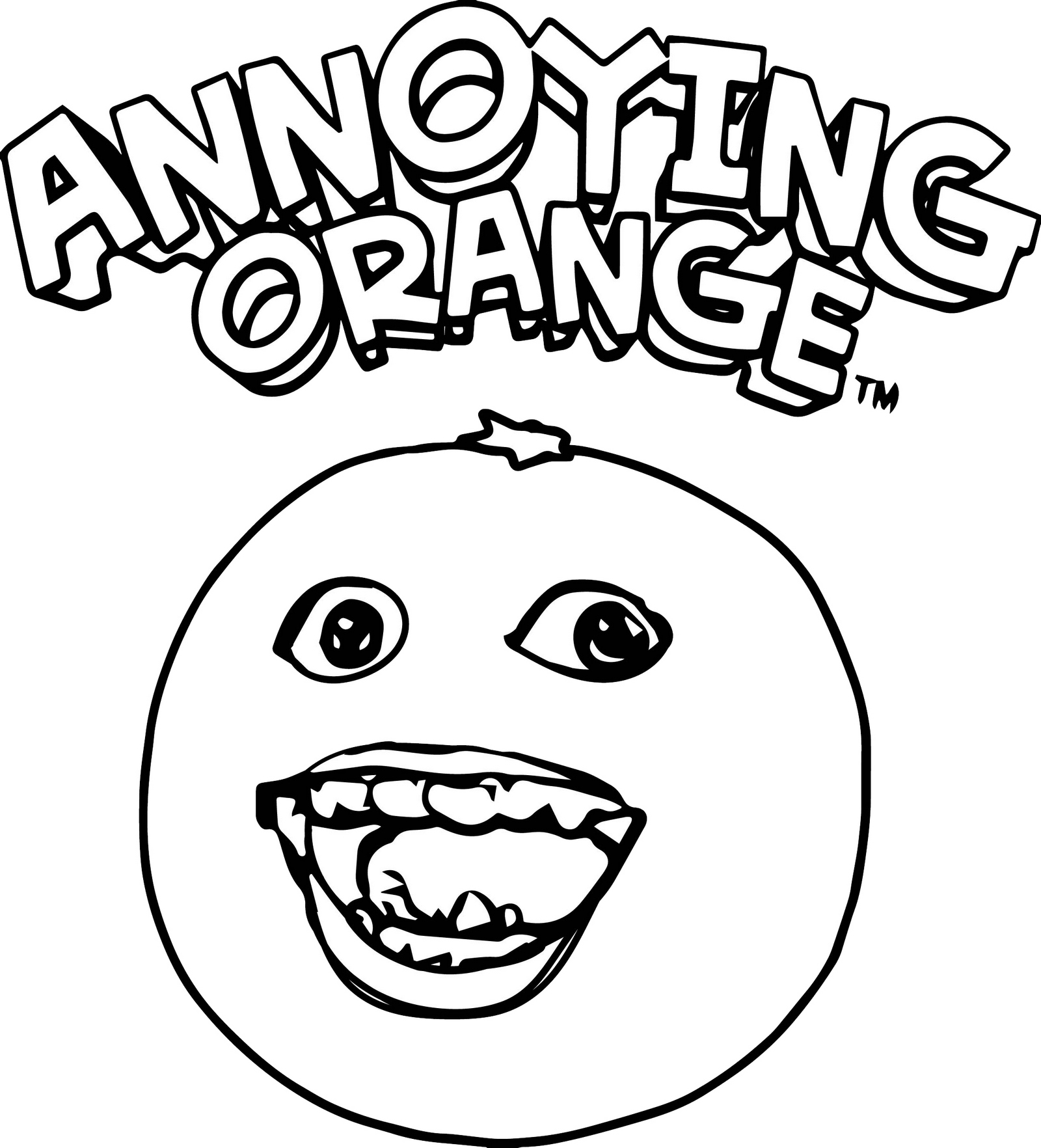The Annoying Orange Coloring Pages for Children 1