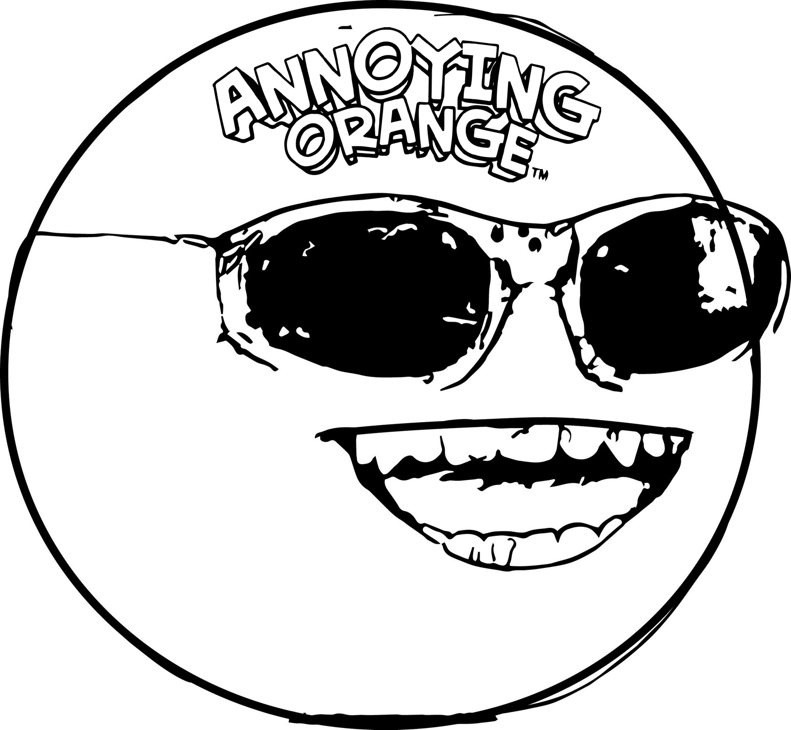 Top High Detailed Annoying Orange Coloring Pages 1