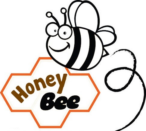 cute honey bee coloring page