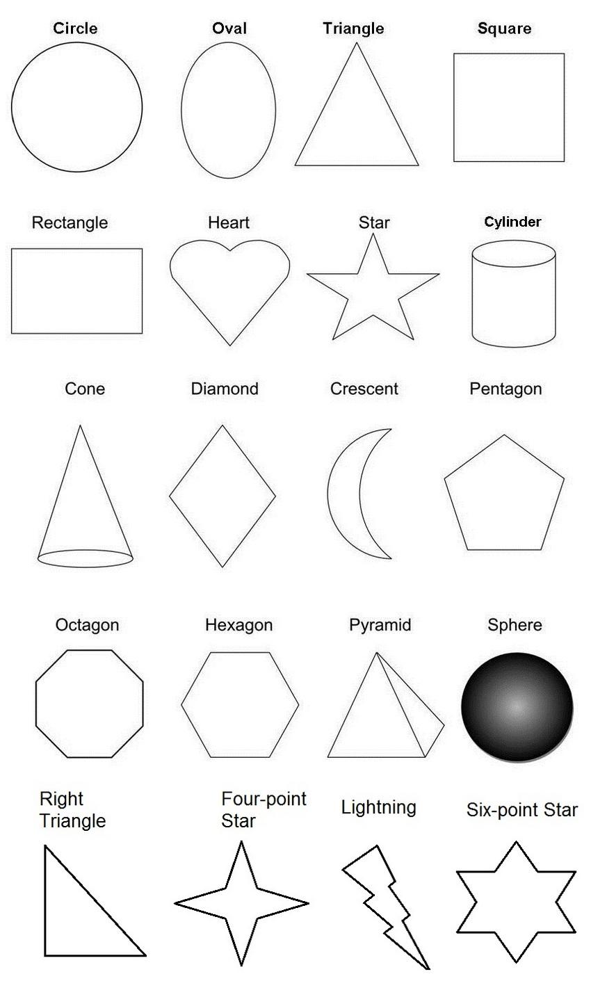 fun shapes worksheet coloring page