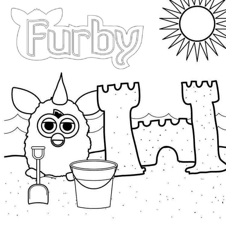 furby building a castle coloring page