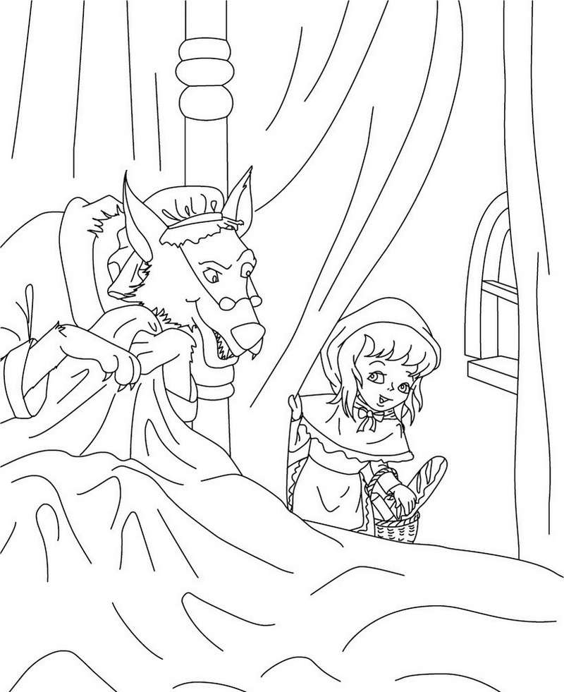 little red riding hood fairy tale coloring pages