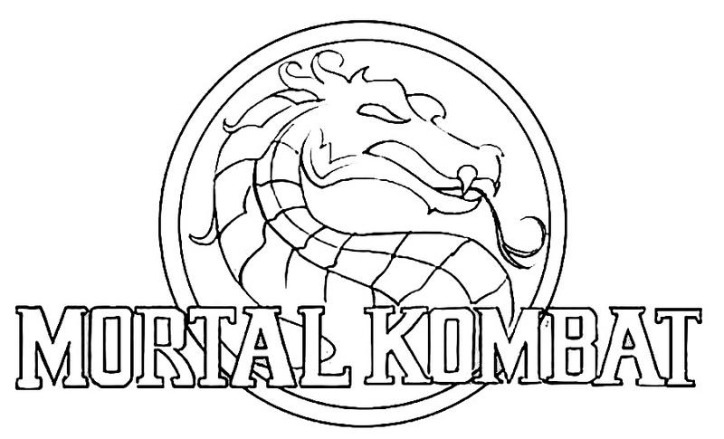 mortal kombat logo coloring pages