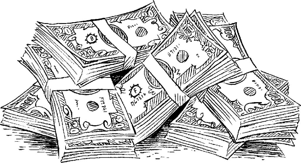 much money coloring page
