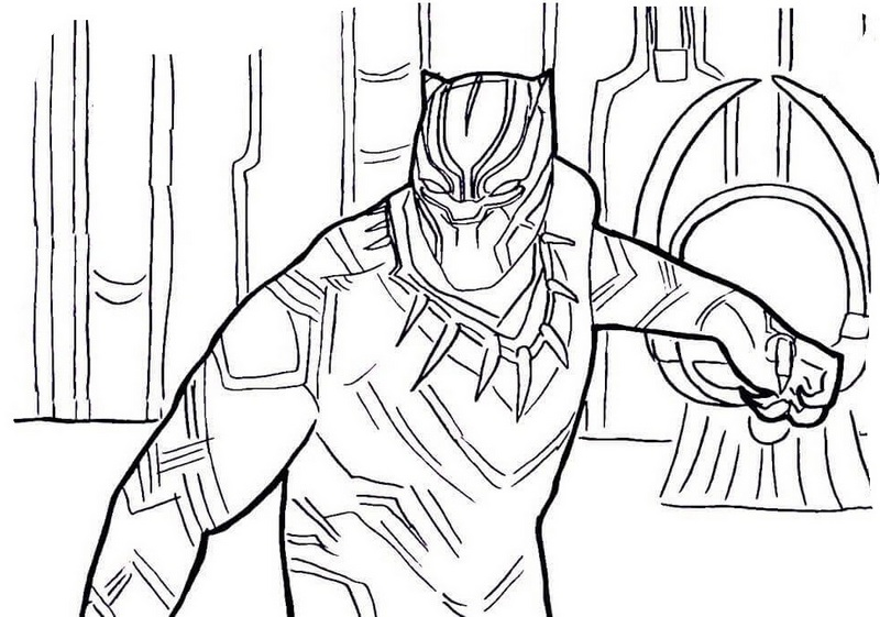 Best Black Panther Coloring Pages