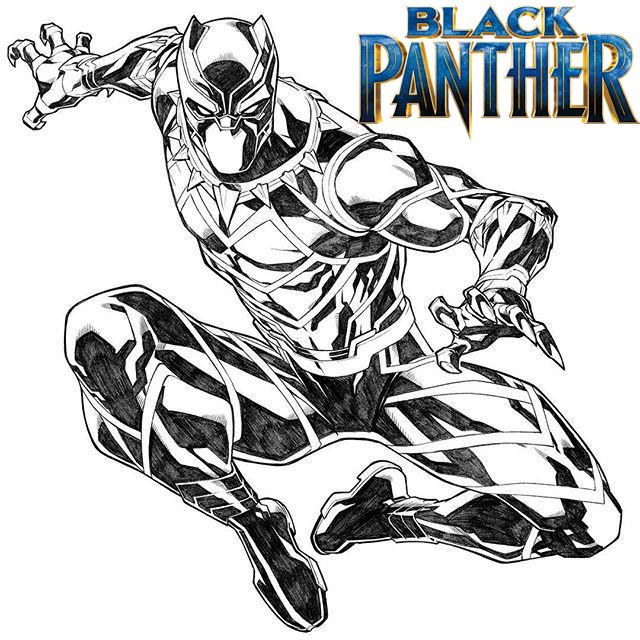 Black Panther Coloring Page Free
