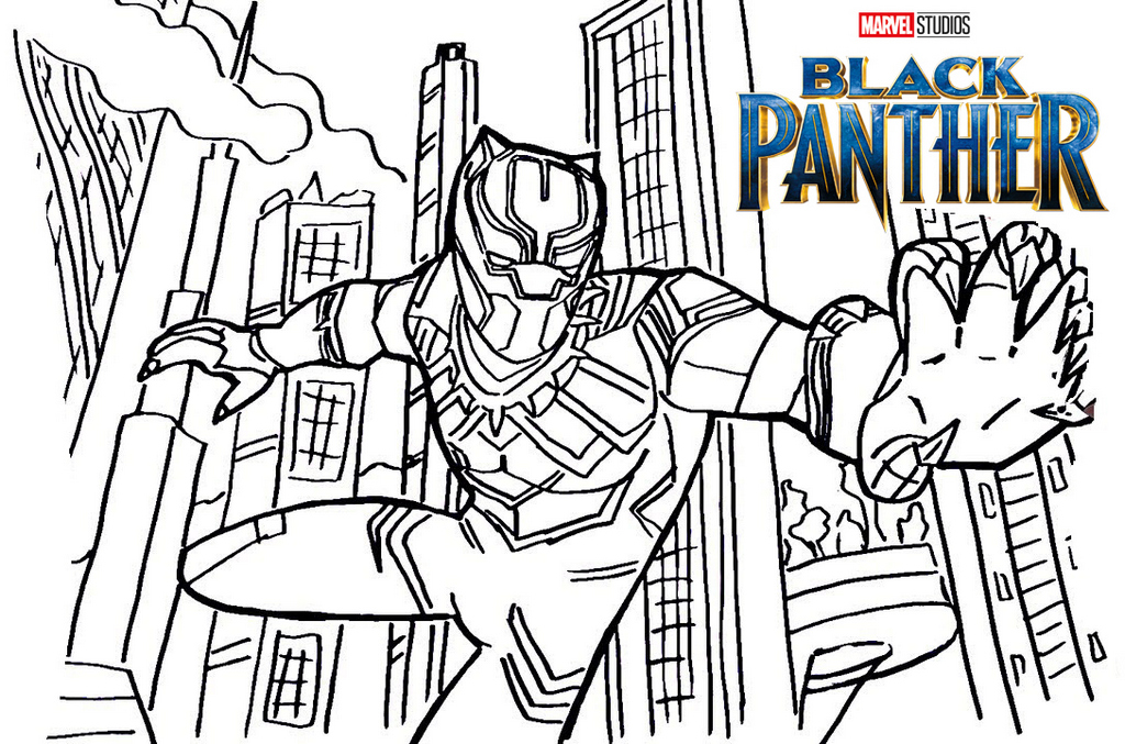 Black Panther Coloring Page Printable