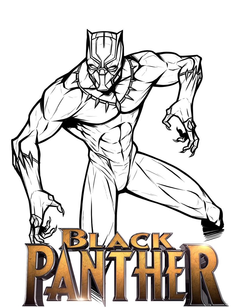 Black Panther Movie Coloring Picture