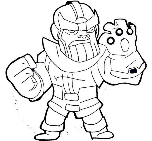 Lego Thanos Coloring Sheet