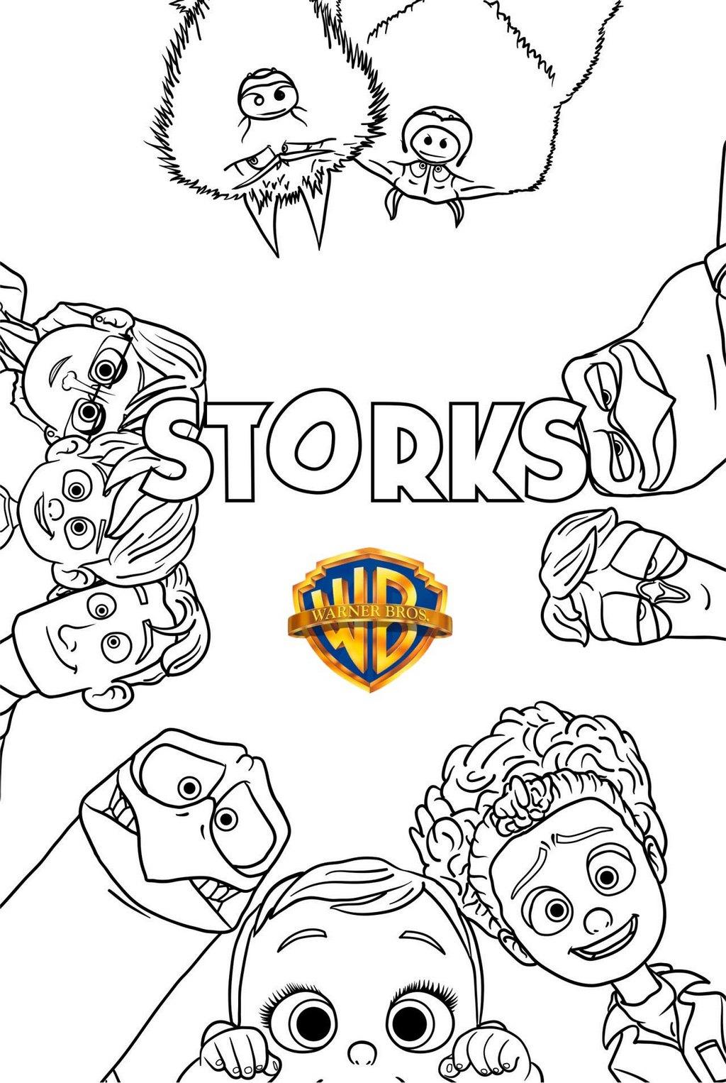Storks Warner Bros Coloring Page