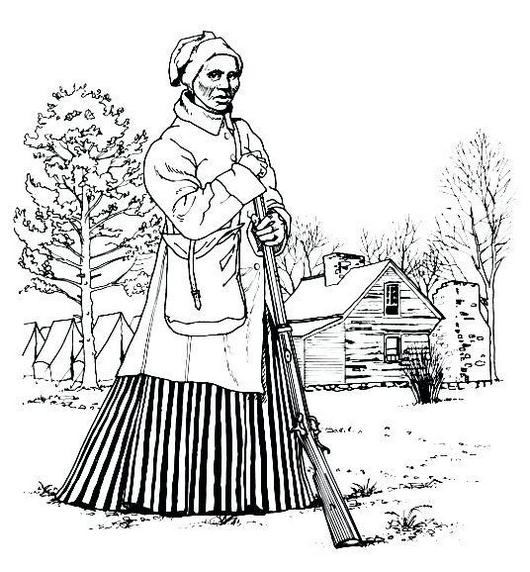 harriet tubman life coloring page
