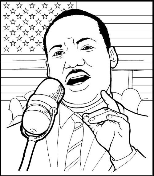 martin luther king jr speech at lincoln memorial coloring page
