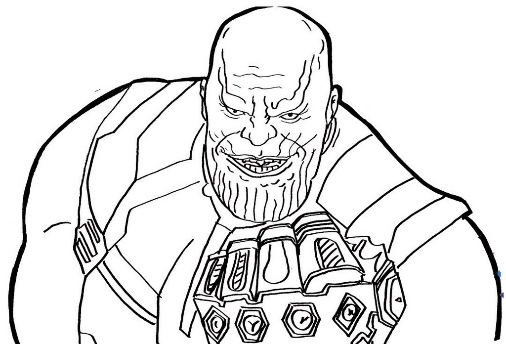 thanos infinity war coloring page