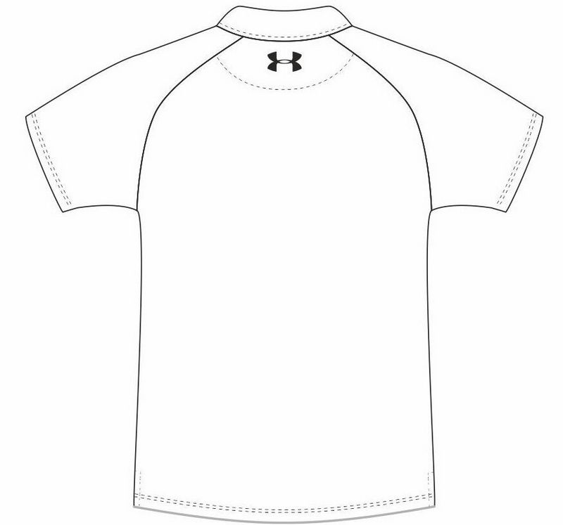 under armour t shirt coloring and drawing page
