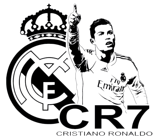 CRISTIANO RONALDO Soccer Player Real Madrid Coloring Page
