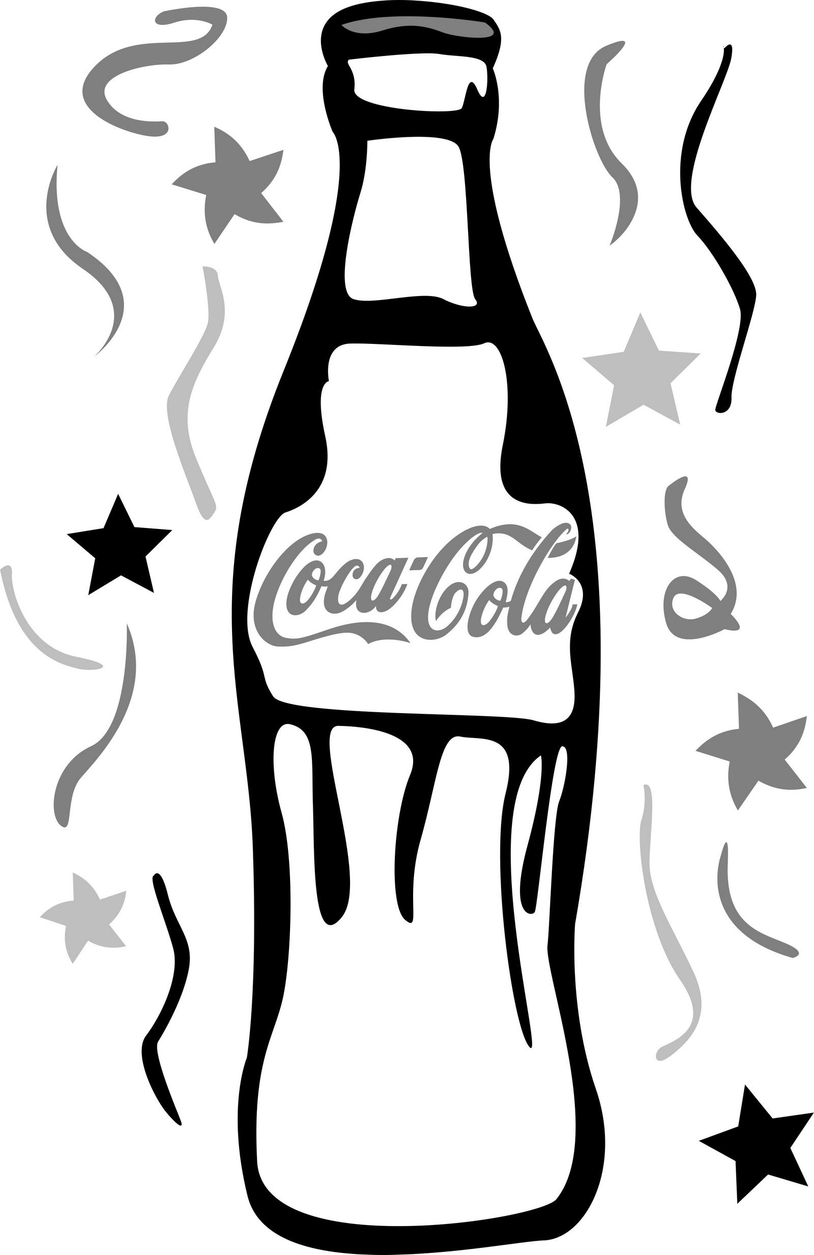 Coca Cola Bottle Coloring Page