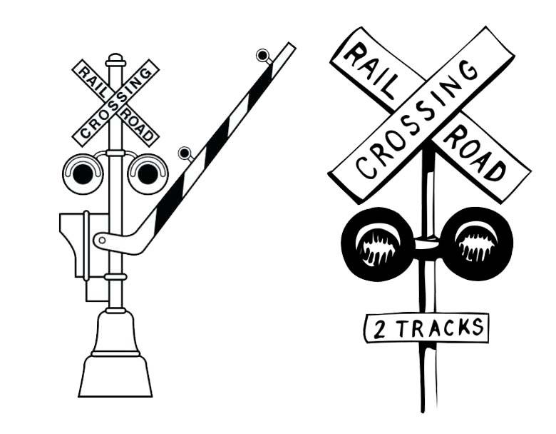Raildroad Crossing Sign Clipart