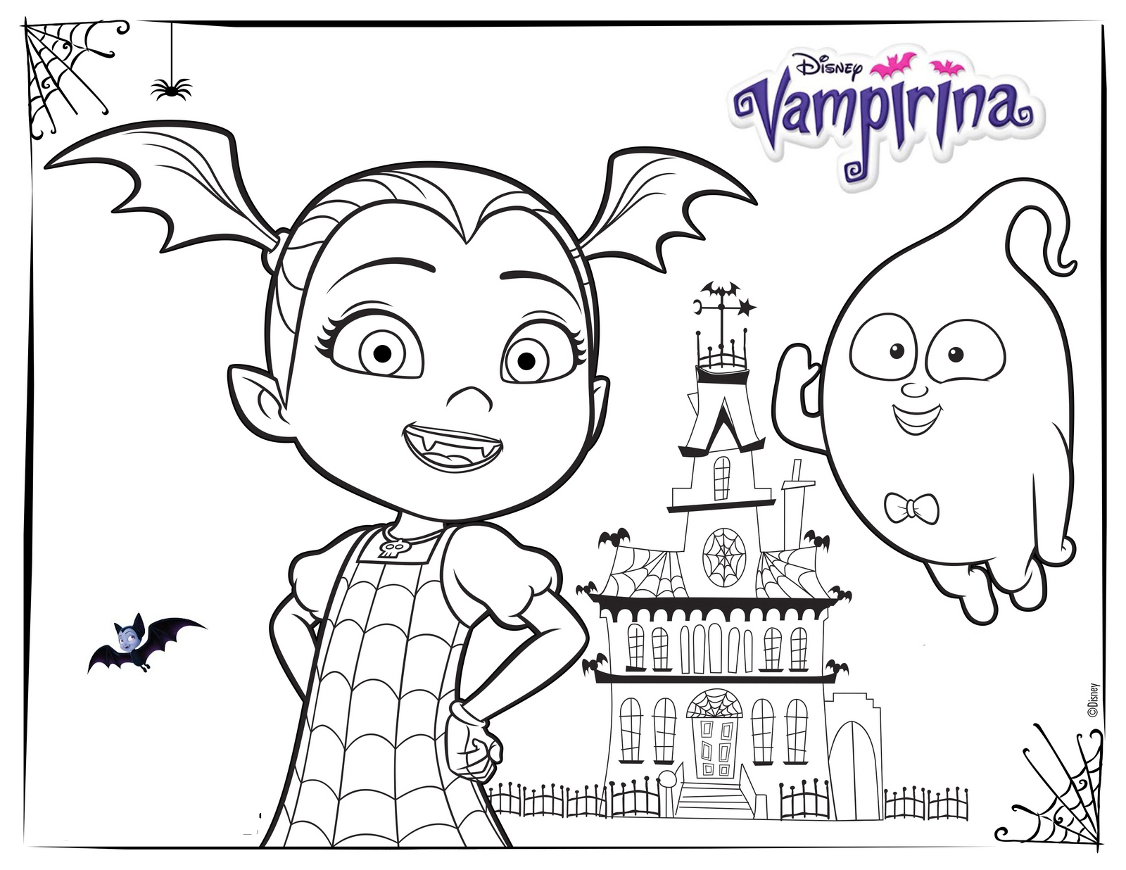 Vampirina and House Coloring Pages