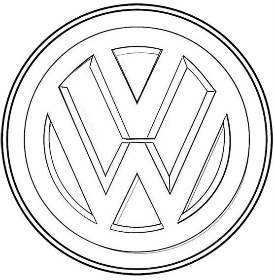 volkswagen logo coloring sheet
