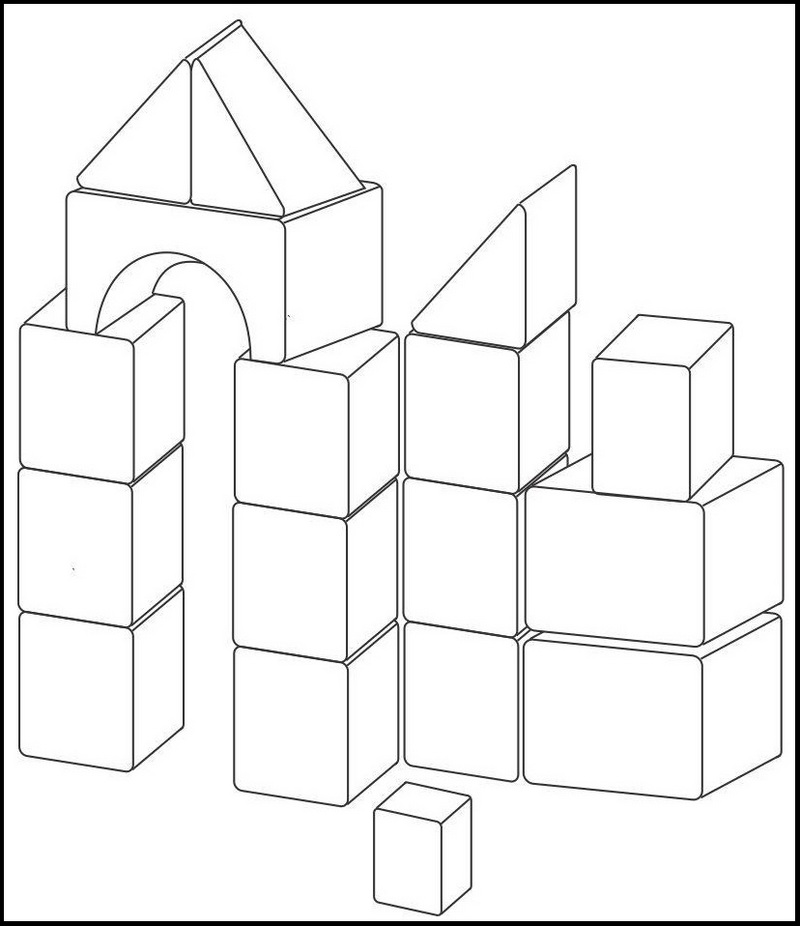 картинки конструктора для раскраски