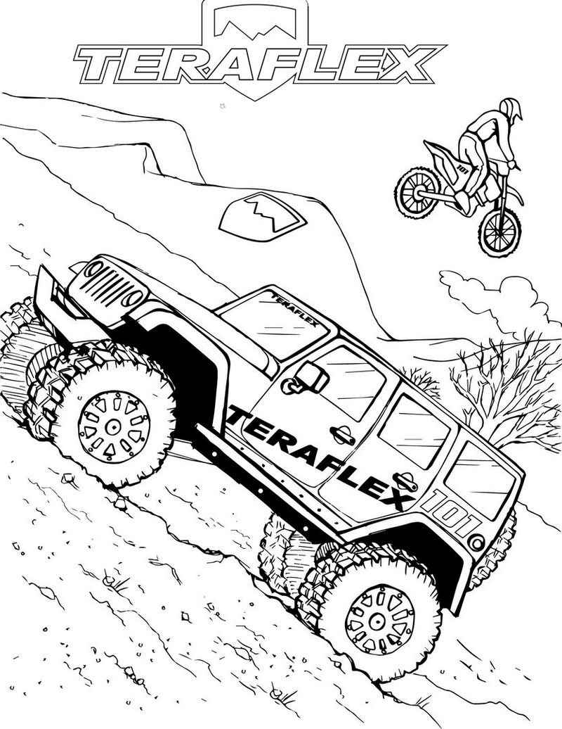 Jeep Off Road Bumpers Coloring Page
