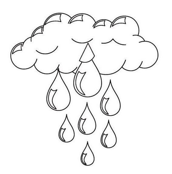 best cloudy rain coloring page