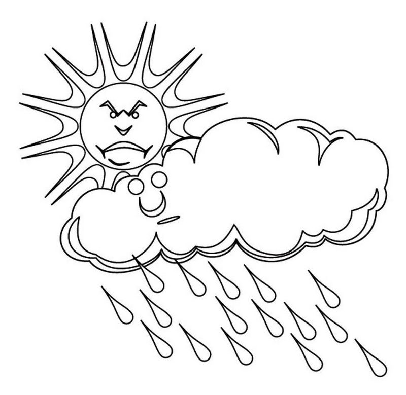 best sun behind cloudy coloring page