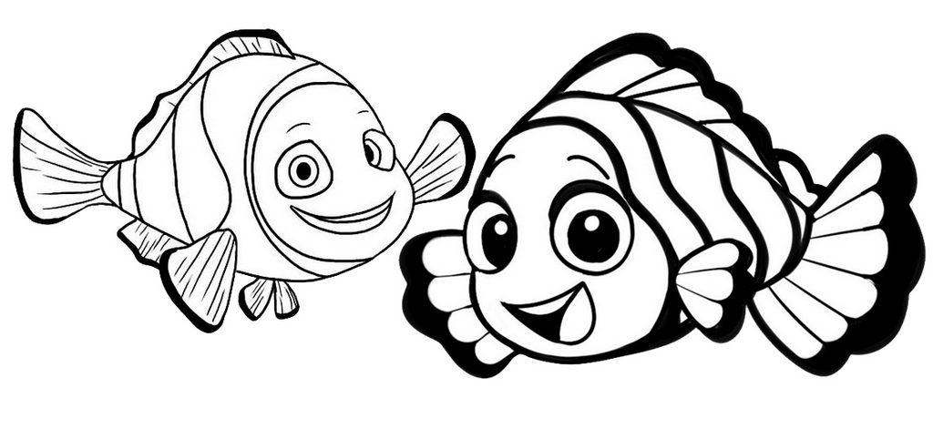 clownfish cartoon finding nemo coloring page