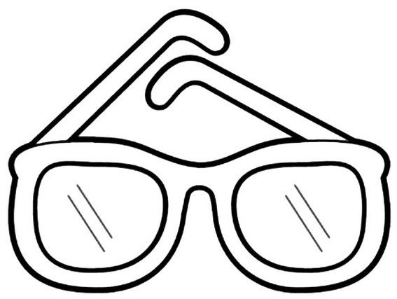 cool sunglasses coloring page