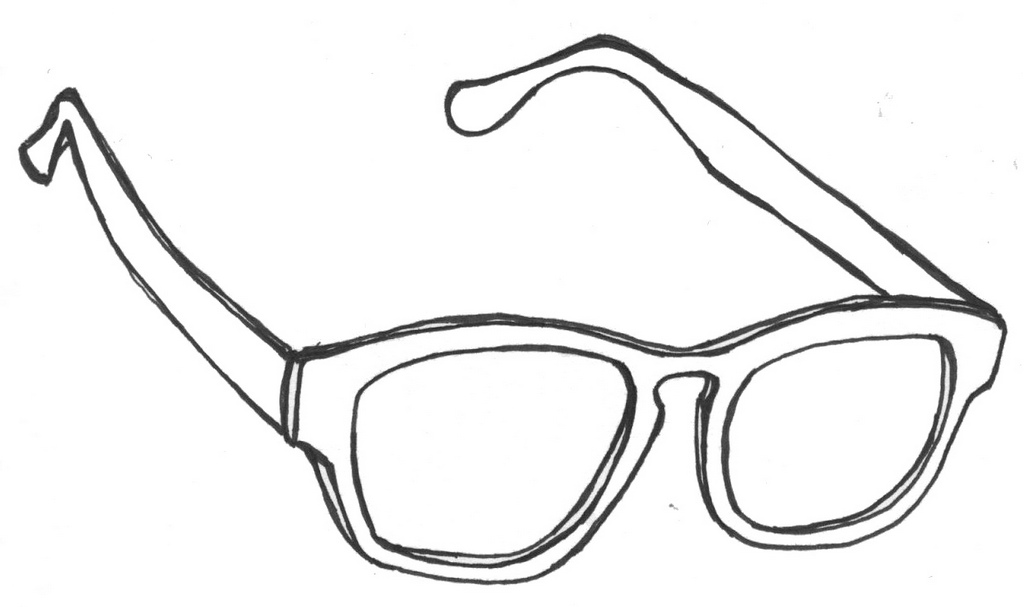 fun sunglasses coloring page for kids