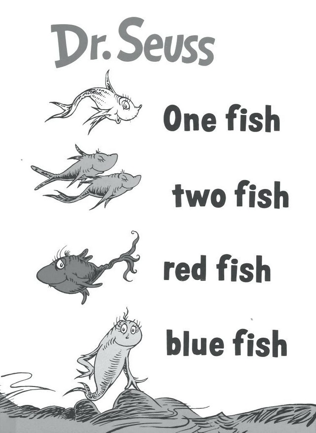 one fish two fish red fish blue fish themed dr seuss coloring pages