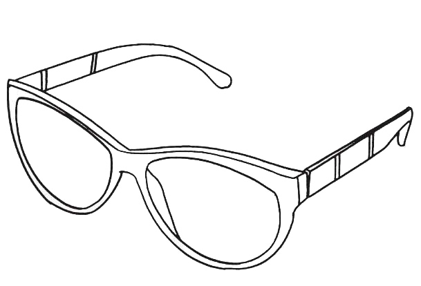 printable sunglasses hut coloring page